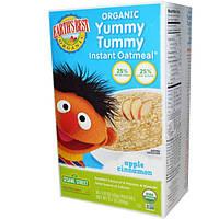 Earths Best, Органическая овсянка быстрого приготовления Yummy Tummy, яблоко и корица, 10 пакетиков, 1,51 унции (43 г) каждый