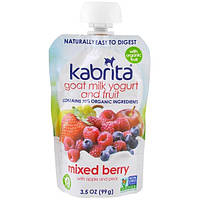 Kabrita, Goat Milk Yogurt and Fruit, Mixed Berry with Apple and Pear, 4 oz (113 g)