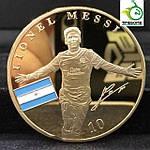 Позолоченная монета ''Месси''