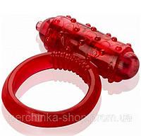 Эрекционное виброкольцо Vibro Ring Red от Orion
