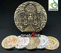 Крупная сувенирная монета - Цивилизация Майя