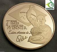 Сувенирная монета - Кубок мира - Король футбола Пеле