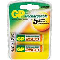 Аккумулятор gp r-06 2 штуки на блистере 2500 mah ni-mh (gp r06/2500)
