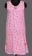 Ночная сорочка без рукава длинная женская (ночнушка) трикотажная хлопковая больших размеров Украина