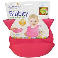 Summer Infant, Bibbity, Моющийся, сворачиваемый детский нагрудник, от 6 месяцев, 1 нагрудник