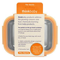 Think, Thinkbaby, ланч бокс, оранжевый, 9 унций (250 мл)