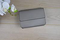 Серый кожаный клатч VirginiaConti