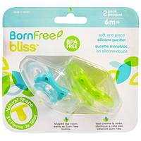 Born Free, Блисс, силиконовая соска, от 6 мес., 2 шт. в упаковке