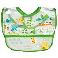 IPlay Inc., Green Sprouts, нагрудник для ребенка, 9-18 месяцев, 1 шт