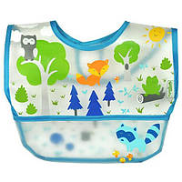 IPlay Inc., Green Sprouts, детский нагрудник, 9-18 месяцев, синий, 1 шт