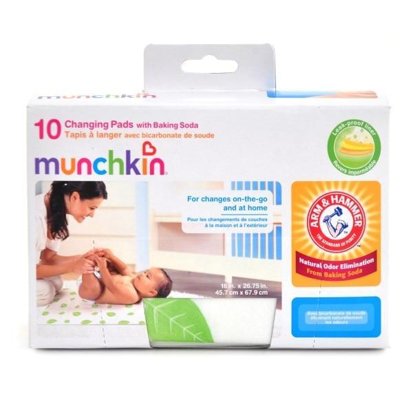 Munchkin, Arm & Hammer, Disposable Changing Pads - 10pk - Интернет-магазин для здоровой жизни в Киеве