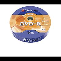 Verbatim dvd-r 4,7gb 16x data life tape wrap 10 pcs 43839 (43839)