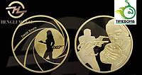 Сувенирная монета - Agent James Bond 007