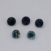 Сапфир синий круг 4 мм. 0,30 карат