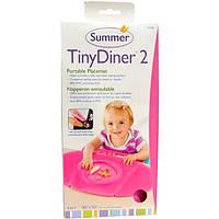 Summer Infant, Tiny Diner 2, портативная подложка под тарелку, голубая, 1 подложка