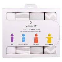 Summer Infant, СпеленайМеня, пеленальный набор для сна, 1 год+, серый, набор из 4 предметов