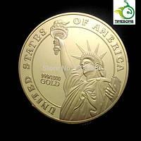 Позолоченная монета - медаль за отвагу
