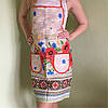 Фартук льняной в украинском стиле с маками - Фото