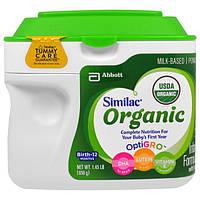 Similac, Улучшенная органическая молочная смесь с железом в порошке, 0-12 месяцев,658 г
