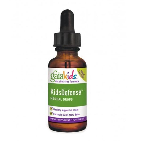 Gaia Herbs, Детские защитные травяные капли, формула без спирта, 1 жидк. унц. (30 мл)