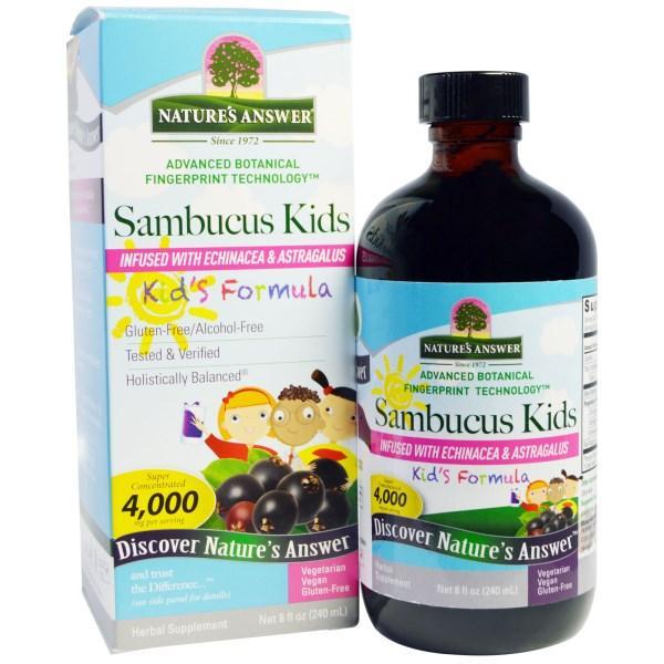 Natures Answer, Формула с бузиной для детей, 4000 мг, 8 жидк. унц. (240 мл)