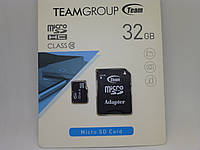 Карта памяти micro SDHC Class(10) 32Gb Team (with adapter)