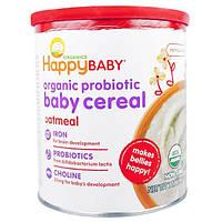 Nurture Inc. (Happy Baby), Органическая каша с пробиотиками для детей, овсяная, 7 унций (198 г)