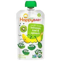 Nurture Inc. (Happy Baby), Органическое детское питание, бананы, киви и шпинат, этап 2, 4 унции (113 г)
