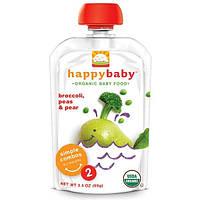Nurture Inc. (Happy Baby), Органическое детское питание, брокколи, горошек и груша, стадия 2, 6+ месяцев, 3.5 унций (99 г)