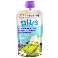 Nurture Inc. (Happy Baby), Happytot, смесь фруктов и овощей, Плюс, черника, яблоко и фиолетовая морковь, 4,22 унции (120 г)