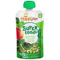 Nurture Inc. (Happy Baby), Happytot, органические суперпродукты, яблоки, шпинат, горох и брокколи + супер чиа, 4,22 унции (120 г)
