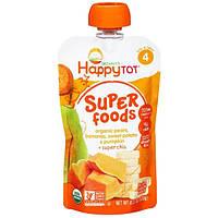 Nurture Inc. (Happy Baby), Happytot, органическое пюре из Груши, Бананов, сладкого картофеля и тыквы + семян чиа, 4,22 унции (120 г)