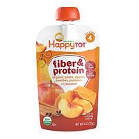 Nurture Inc. (Happy Baby), Happy Tot, волокна и протеин, смесь из фруктов и овощей, этап 4, 4 унции (113 г)