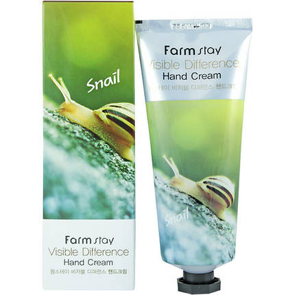Крем для рук с  улитки FarmStay Visible Difference Snail Hand Cream, 100 мл, фото 2
