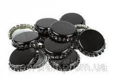 Крышки пивные черные. Кроненпробки 100 шт 26 мм