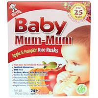 Hot Kid, Baby Mum-Mum, рисовые сухарики с яблоком и тыквой, 26 сухариков, 1,90 унции (54 г)