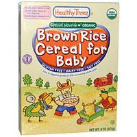 Healthy Times, Рисовые хлопья из цельного зерна для детей, 170 г