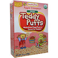 Healthy Times, Натуральная каша Teddy Puffs, с яблоком и корицей, 5.5 унций (156 г)