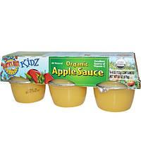 Earths Best, Kidz, Органический яблочный соус, 6 упаковок, 4 унции (113 г) каждая