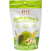 NurturMe, Органическая закуска для детей, Yum-A-Roos, банан + яблоко + броколли, 1 унция (28 г)