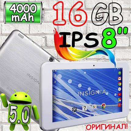 Мощный ОРИГИНАЛ INSIGNIA NS-P16AT08 ,8 дюймов IPS, 1/16GB , фото 2
