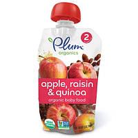 Plum Organics, Детское питание, стадия 2, с яблоком, изюмом и киноа, 3.5 унции (99 г)