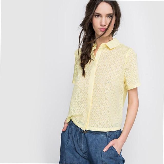 Фото Женских блузок с коротким рукавом