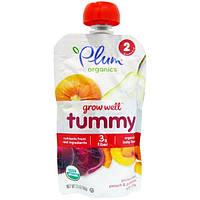 Plum Organics, Grow Well, Tummy, слива, груша, персик и тыква с чиа, 99 г