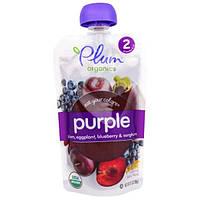 Plum Organics, Eat Your Colors, Purple, Plum, Eggplant, Blueberry, Sorghum, Stage 2, 3.5 oz (99 g)