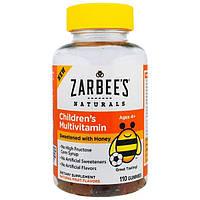 Zarbees, Мультивитаминный комплекс для детей, подслащенный медом, 110 жевательных пастилок