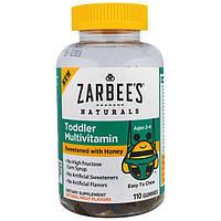 Zarbees, Мультивитаминный комплекс для малышей, подслащенный медом, 110 жевательных пастилок
