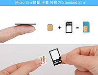 Переходник адаптер для nano micro SIM карт