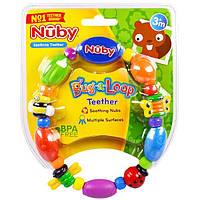 Nuby, Успокаивающий прорезыватель, Bug-а-Loop, 3 + месяцев, 1 шт.