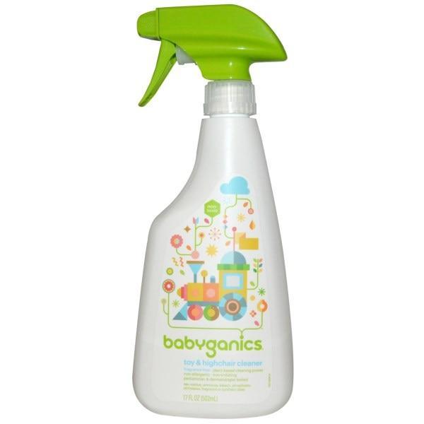 BabyGanics, Очищающее средство для игрушек и стульчиков, без отдушек, 17 ж. унций (502мл)